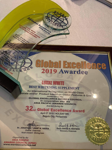 luxxe white award most effective whitening supplement