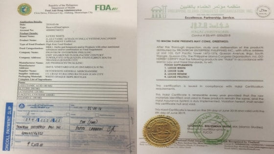 luxxe white fda and halal certificate approved