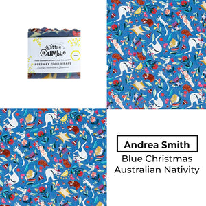 Andrea Smith - Australian Christmas Nativity Blue - Mini wrap 15x15cm