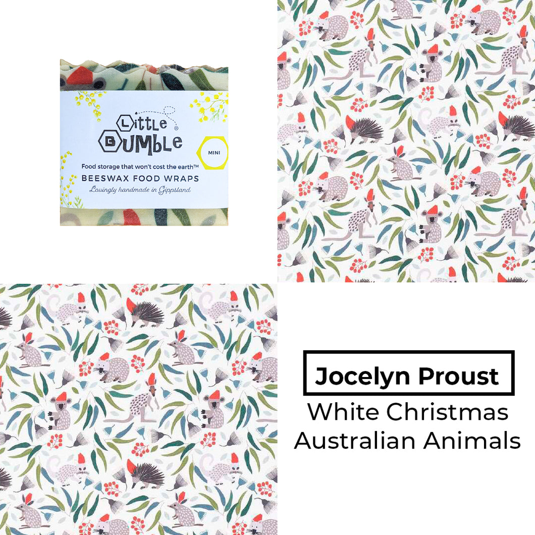 Jocelyn Proust - White Christmas Animals - Mini wrap 15x15cm