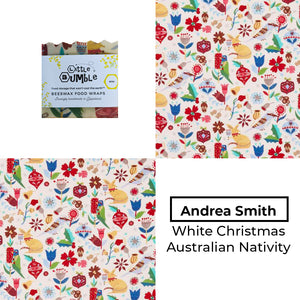 Andrea Smith - Australian Christmas Nativity White - Mini wrap 15x15cm