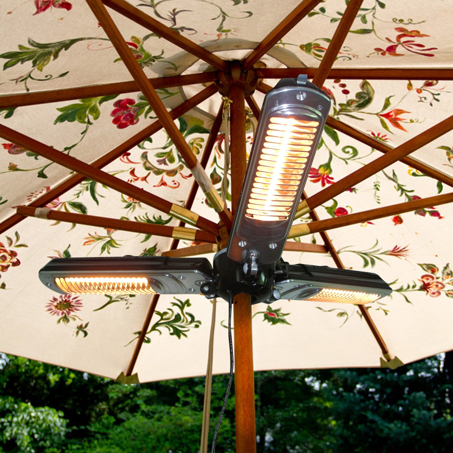 Electric Parasol Patio Heater Folding Outdoor Umbrella Space