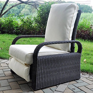Wicker Recliner Outdoor Recliner Chair Patio recliner Lounger BabylonPatio Chair