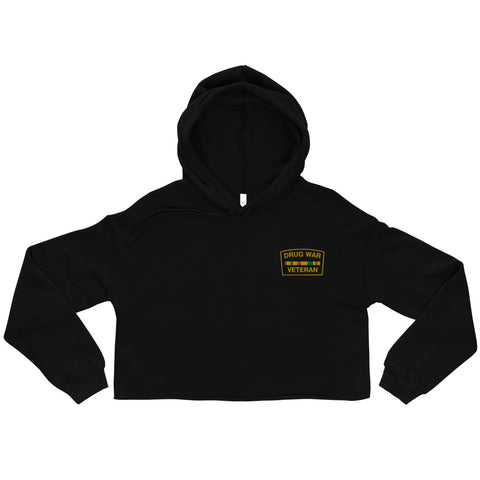 Drug War Veteran Crop Top Hoody