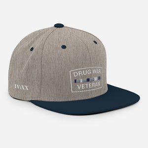 Drug War Veteran Snapback Navy Blue/ Heather Grey