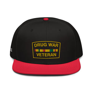 Drug War Veteran Snapback Red/ Black