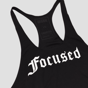 Focused Gym Tank top - Black - Work Smarter Lifestyle
