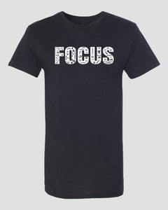 Focus Long body T-Shirt - Black - Work Smarter Lifestyle