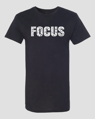Focus Long body T-Shirt - Black