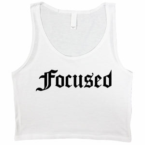 Focused Crop Tank - Work Smarter Lifestyle