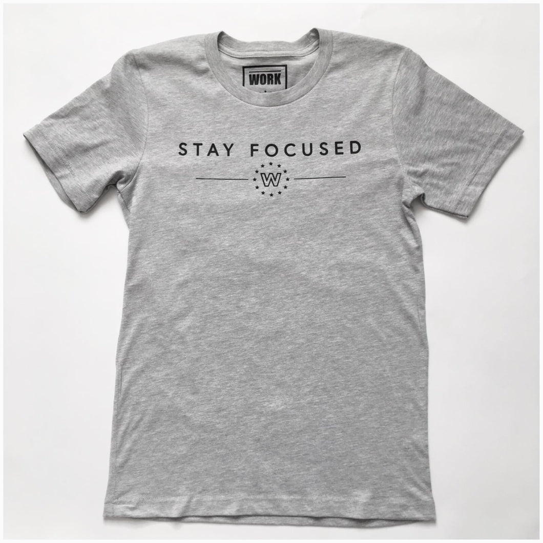 Stay Focused Tee - Grey Heather