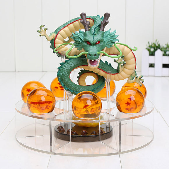 Moulded 15cm Shenron Figure + 7pcs 3.5cm Dragon Balls + Stand - 9figures, Action & Toy Figures, Amelie, 9figures