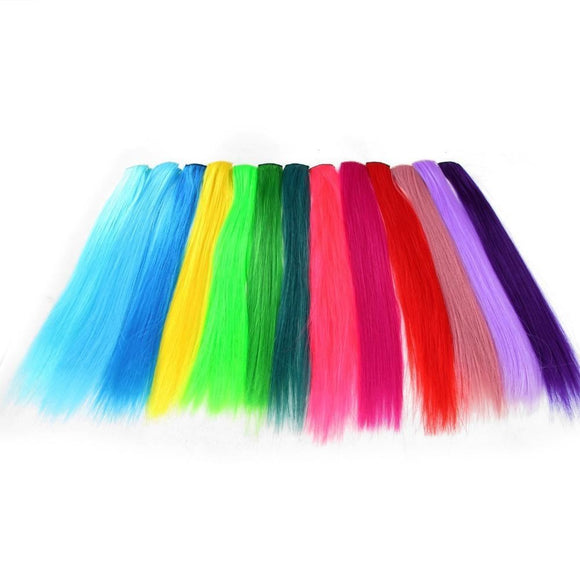 40Cm Vibrant Hair Extensions Synthetic Clip-In One Piece