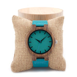 Sea-blue Bamboo watch - 9figures, , BOBO BIRD Offical Store, 9figures