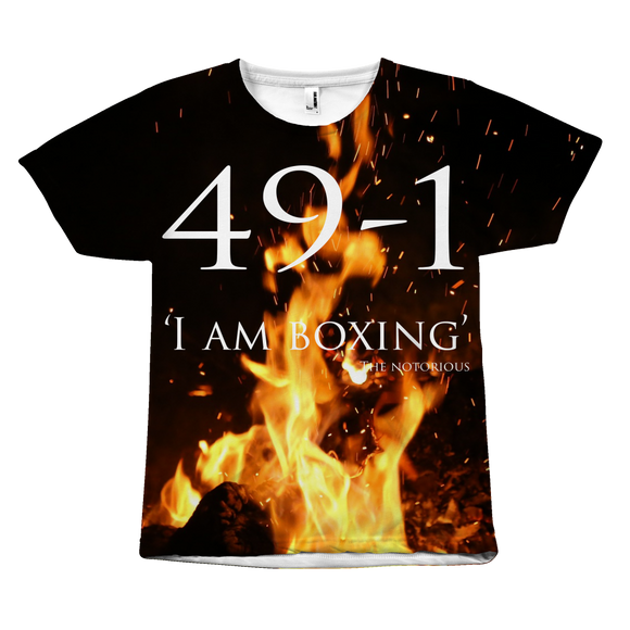 Conor Mcgregor 49-1 T-Shirt: I AM BOXING - 9figures, All Over Print, teelaunch, 9figures