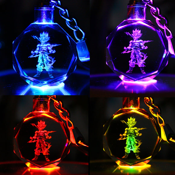 Dragon Ball Z Crystal LED Keychains - 9figures, Action & Toy Figures, Children's Beautiful World Store, 9figures