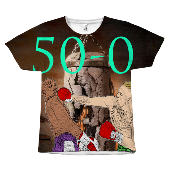 Mayweather 50-0 T-shirt - UNISEX - 9figures, All Over Print, teelaunch, 9figures