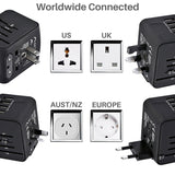 All-In-One WorldWide Travel Adaptor - 9figures, International Plug Adaptor, LONGET Official Store, 9figures