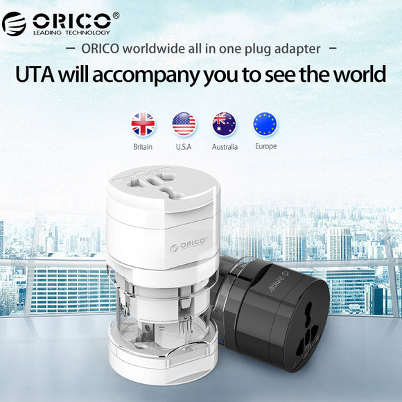 ORICO Universal Socket Converter - Outlet: All in One - Worldwide Use US/UK/EU/AU - 9figures, International Plug Adaptor, ORICO Direct Store, 9figures