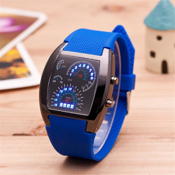 Digital Led Racing Watch Womens Watches