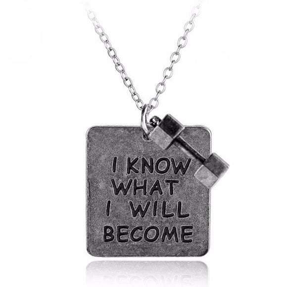 I Know What Will Become - Necklace With Dumbbell Pendant Necklaces