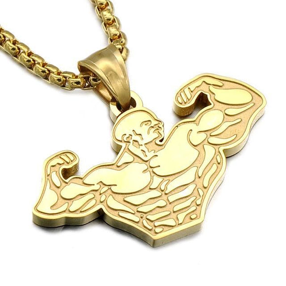 Mr Olympia Necklace Gold Pendant Necklaces