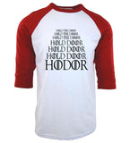 Hold the door, Hodor - 3/4 T shirt - Male - Various colours - 9figures, Clothes, 9figures, 9figures