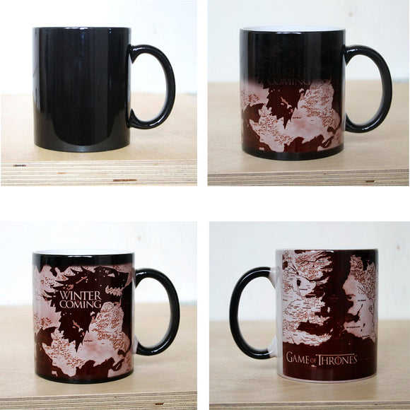Mug - Stark - WINTER Is COMING - Mug changes colour with heat - 9figures, Home, 9figures, 9figures