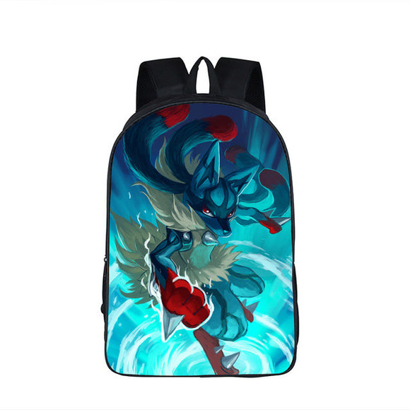 Pokemon Backpack - Unisex - Multiple styles available - 9figures, Bag, 9figures, 9figures lucario, megalucario, lucariobag, megalucariobag