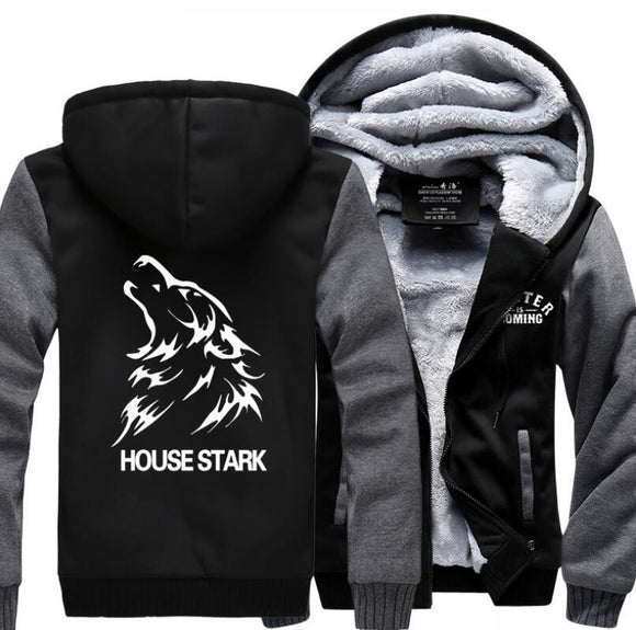 Winter Fleece - Stark - Black/Red available - High quality - 9figures, Clothes, 9figures, 9figures