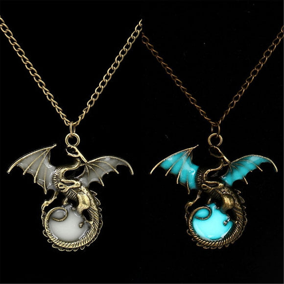 Luminous Dragon Pendant/necklace - Glow In The Dark Jewellery