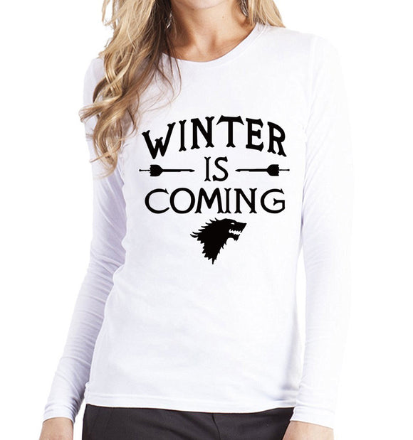 Winter is coming - T shirt - Female - Various colours - 9figures, Clothes, 9figures, 9figures