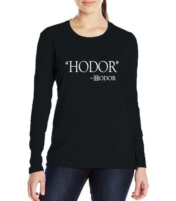 HODOR quote top - Female - Various colours - 9figures, Clothes, 9figures, 9figures