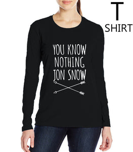You Know Nothing Jon Snow - Top - Female - Various colours - 9figures, Clothes, 9figures, 9figures