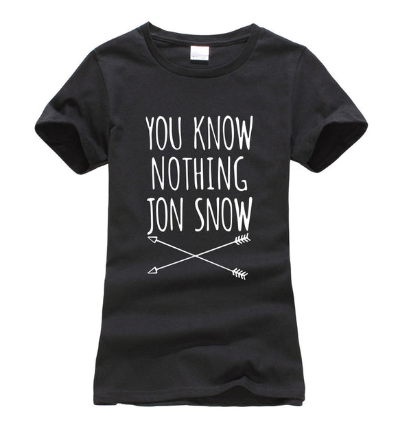 You Know Nothing Jon Snow - T shirt - women - Various colours - 9figures, Clothes, 9figures, 9figures