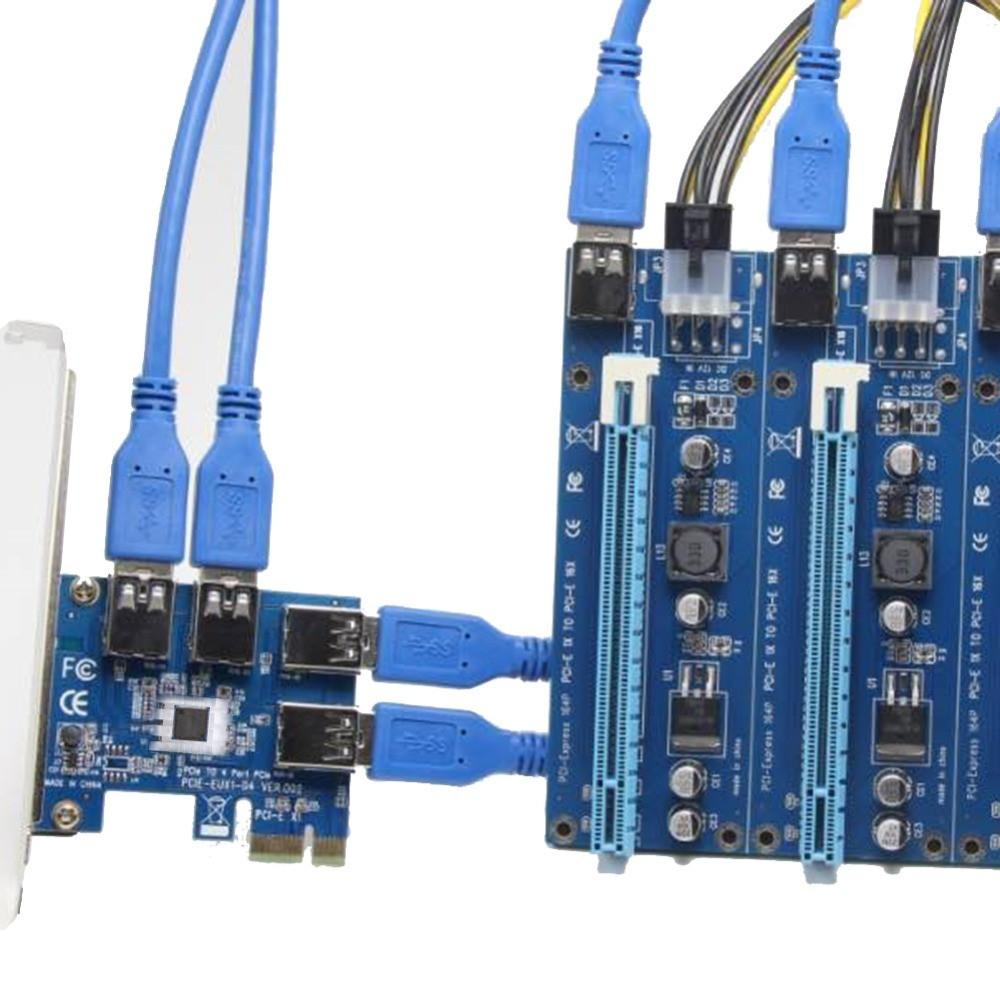 60cm Usb 30 Pci E Express 1x To 16x Extender Riser Card Adapter 1 4 Solid Capacitor