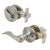 Keyed Entry Leverset Lock with Single Cylinder Deadbolt Satin Nickel Finish Combo Packs - Keyed Alike DL12061ET-101SN
