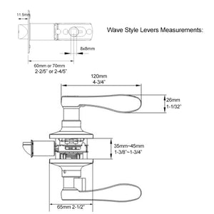 wave lever door lock