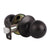 Single Connect Rod Round Ball Knobs Entry Lock /Privacy/Passage/Dummy Knob, Oil Rubbed Bronze Finish DL5763ORB