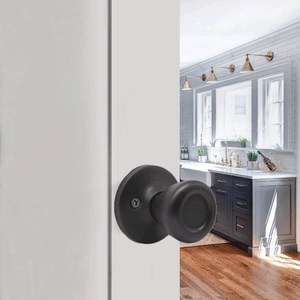 Single Connecting Rod Door Knobs Entrance/Privacy/Passage/Dummy Function Door Lock Knob, Oil Rubbed Bronze Finish