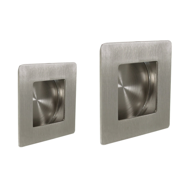Cabinet Recessed Handles And Knobs Square Style 50mm/70mm Flush Pull Brushed Stainless Steel Finish