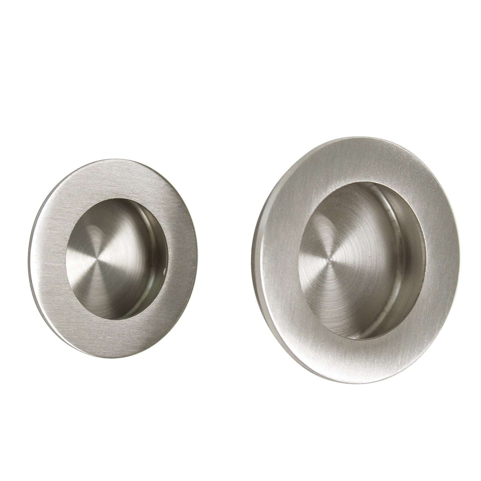 Picture of: Brusehd Stainless Steel Round Flush Door Pulls Cabinet Recessed Handle Probrico