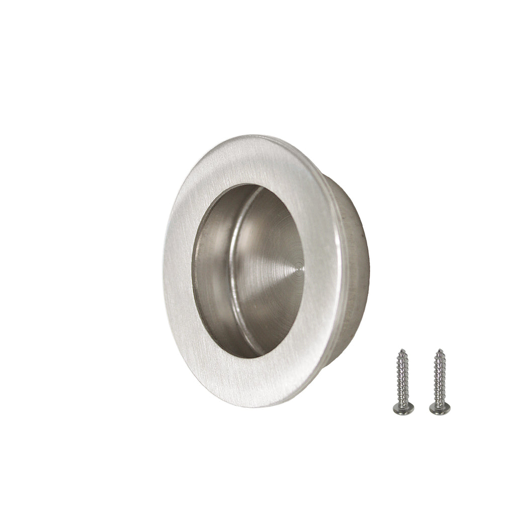 Brusehd Stainless Steel Round Flush Door Pulls Cabinet