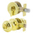 Keyed Alike Entry Door Lock Knob with Single Cylinder Deadbolt, Polished Brass Finish - DL609ET-101PB