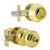 Keyed Alike Entry Door Lock Knob with Double Cylinder Deadbolt, Polished Brass Finish - DL609ET-102PB