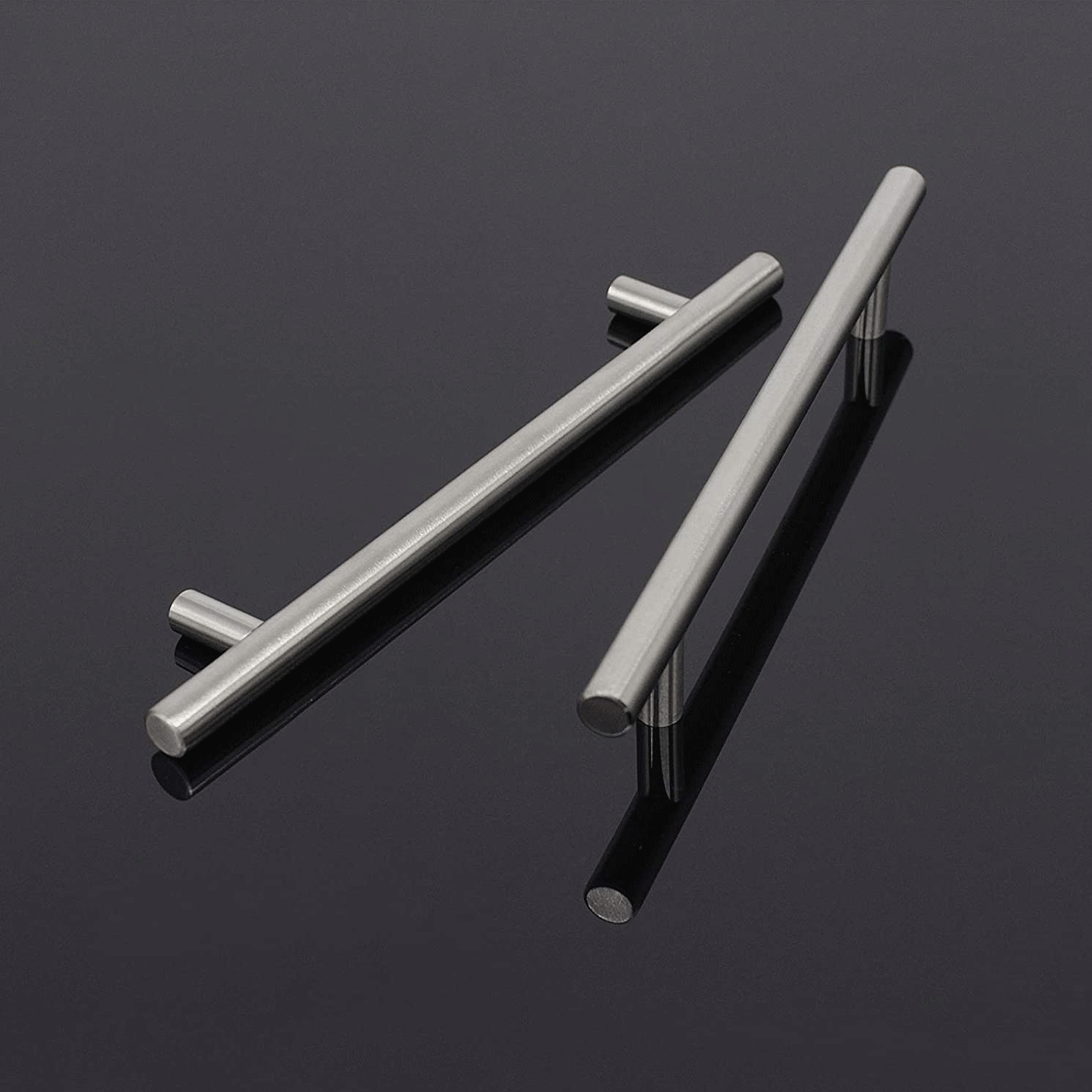 5Pack Euro T Bar Pulls for Cabinets, Brushed Stainless Steel Kitchen Handles 160mm 6 3/10inch PD201HSS160