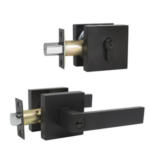 keyed entry door handle set
