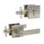 keyed alike door lever lock with double deadbolt