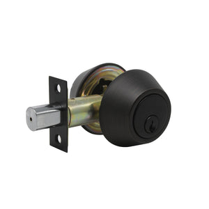 Double Cylinder Deadbolts with Key on Both Side, Keyed Entry Door Lock Oil Rubbed Bronze Finish DLD102ORB