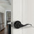 Black Door Handles Wave Style Levers, Entry Keyed/Privacy Lock/Passage/Dummy Function DL12061BK